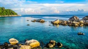 Рай на острове Pulau Besar Perhentian, Малайзии стоковые фотографии rf