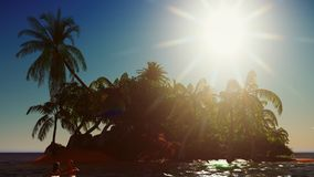 Рай на переводе острова 3d Гаваи Стоковое Фото