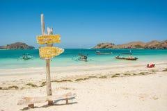 Рай на пляже tanjung aan, Индонезии Стоковое Фото
