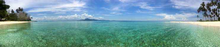 Рай острова в острове Maiga Стоковое фото RF