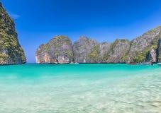 Рай пляжа лагуны Стоковые Изображения