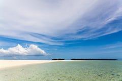 Рай пляжа, остров Занзибара, Танзания Стоковое Изображение RF
