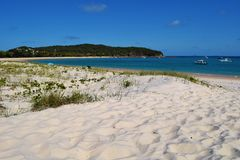 рай спрятанный пляжем Стоковые Фото