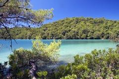 рай mljet острова Хорватии стоковое изображение