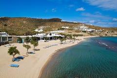 рай mykronos пляжа greece3 Стоковые Изображения RF