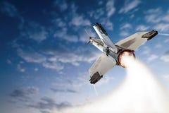 Ракета активиста летания-вверх Стоковое Фото