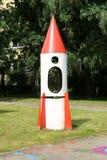 Ракета в спортивной площадке Стоковое Изображение