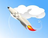 Ракета летания Стоковое Изображение