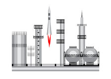 Ракета космоса значка Стоковое Изображение