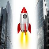 Ракета космоса на белизне Стоковая Фотография RF