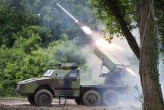 ракета многократной цепи пусковой установки Стоковые Фотографии RF