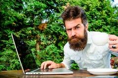 Ракета -носитель кофеина для урожайности Онлайн блог Редактор блоггера независимый Стереотип трудоголика Работа кофе напитка стоковое фото rf