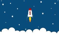 Ракета до неба Стоковое Фото