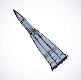 Ракета предпосылка рисуя флористический вектор травы Стоковое Фото