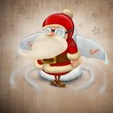 Ракета Santa Claus иллюстрация штока
