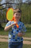 ракетка мальчика Стоковое Изображение RF