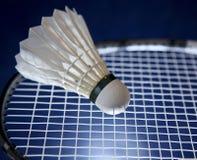 Ракетка Badminton и shuttlecock Стоковая Фотография