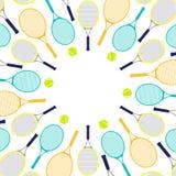 Ракетки и шарики тенниса Стоковое Изображение RF
