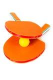 Ракетки и шарик настольного тенниса Стоковая Фотография