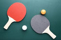 Ракетки настольного тенниса стоковое изображение rf