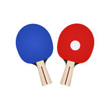 2 ракетки для настольного тенниса Иллюстрация Vecktor на белой предпосылке Стоковые Изображения RF