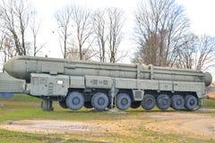 Ракетные комплексы русского PT 2PM2 Topol-M стратегические стоковое фото rf