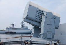 Ракетный комплекс корпуса летательного аппарата завальцовки на немецком военно-морском флоте Корвете Стоковые Фото
