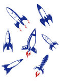 Ракеты космоса и воинские реактивные снаряды Стоковая Фотография RF