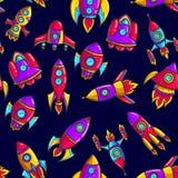 Ракеты мультфильма вручают нарисованный стоковая фотография rf