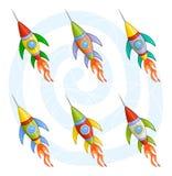ракеты шаржа Стоковое Фото
