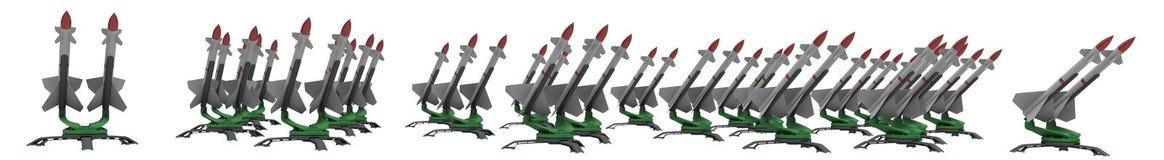 Ракеты иллюстрация вектора