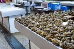 Раки в рыбном базаре стоковое изображение rf