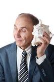 раковина бизнесмена слушая к Стоковое фото RF