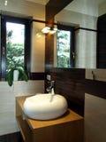 раковина ванной комнаты самомоднейшая Стоковые Фотографии RF