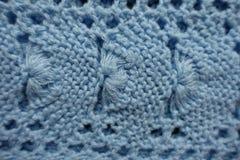 Раковина как картина на ткани связанной синью Стоковые Изображения RF