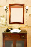 раковина классики ванной комнаты Стоковое Изображение