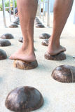 раковина массажа ноги кокоса Стоковое фото RF