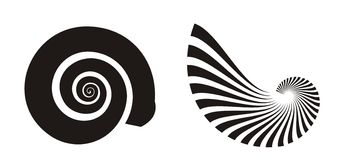 раковина моря икон иллюстрация вектора