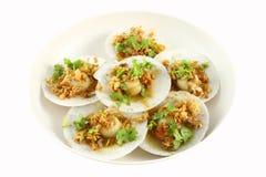 раковина моря плиты еды полная Стоковые Изображения