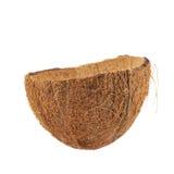 Раковина плодоовощ кокоса отрезанная в половине Стоковое фото RF
