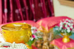 Раковина раковины в шаре для тайской свадьбы Стоковое фото RF