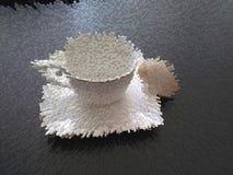 Раковина сливк на парах чая иллюстрация вектора
