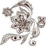 Раковина с цветками Стоковые Фото