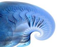 раковина фрактали искусства голубая Стоковое Изображение