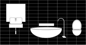 Раковина Bathroom, зеркало иллюстрация штока