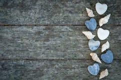 Раковины и сердце Стоковые Фотографии RF