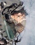 раковины моря сообщения стоковые фотографии rf