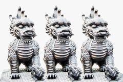 дракон возглавил единорога стоковое изображение rf