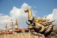 дракон золотистый Стоковое Фото