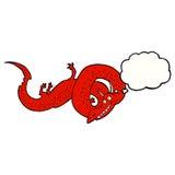 дракон шаржа китайский с пузырем мысли Стоковая Фотография